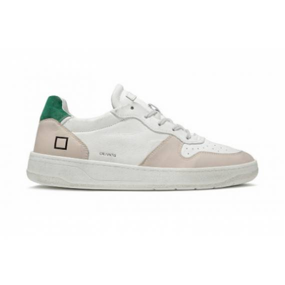 D.A.T.E. SNEAKERS UOMO WHITE/GREEN