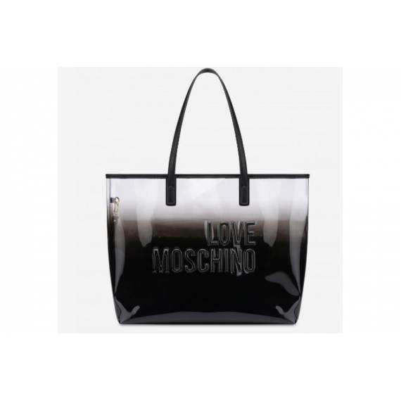 LOVE MOSCHINO SHOPPING TRASPARENTE NERA
