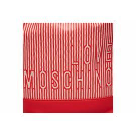 LOVE MOSCHINO BORSA SACCA ROSSA/BIANCA