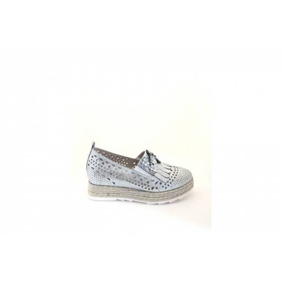 LUCIANO BARACHINI SLIP ON ARGENTO