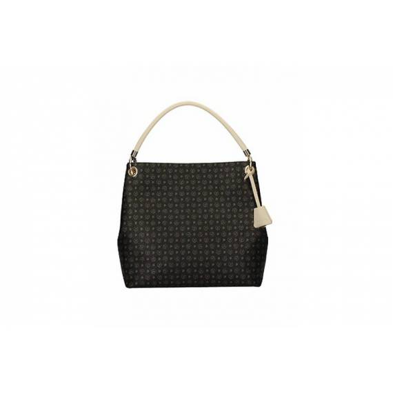 POLLINI SHOPPER NERO/AVORIO